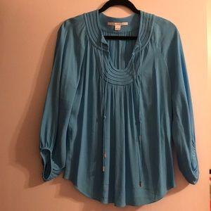 Diane vonFurstenburg Blue Blouse Size 8 NWOT